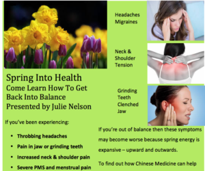 Spring Into Health Seminar Wednesday April 11th at Qi